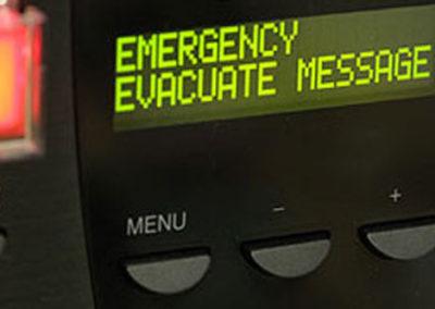 Messaggio evaquazione