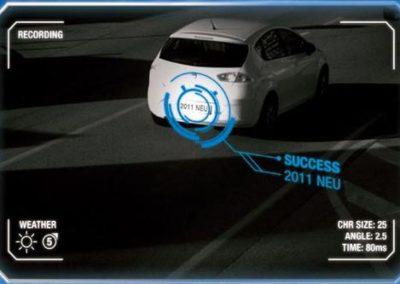 Videocontrollo riconoscimento targhe auto