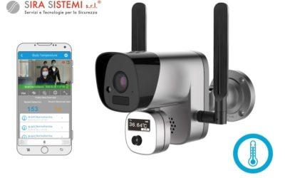 Telecamera IP WiFi Full HD con misurazione temperatura